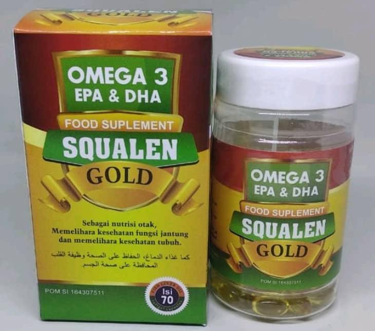 Omega 3 EPA dan DHA Squalene Gold