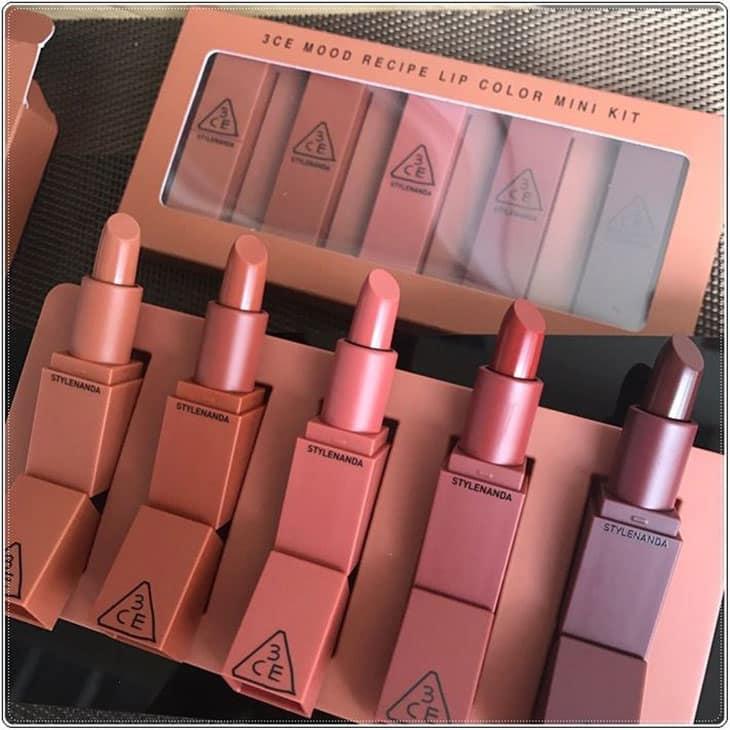 3CE Mood Recipe Lip Color Mini Kit Nude Shade