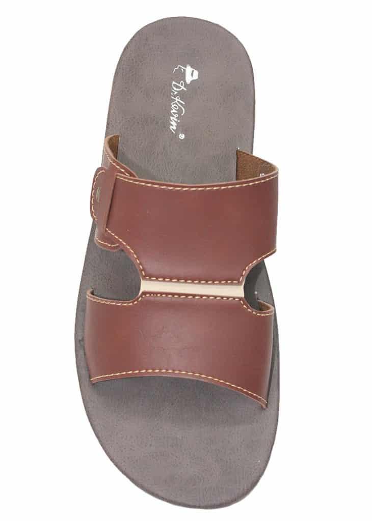 Dr. Kevin Men Leather Sandals Brown