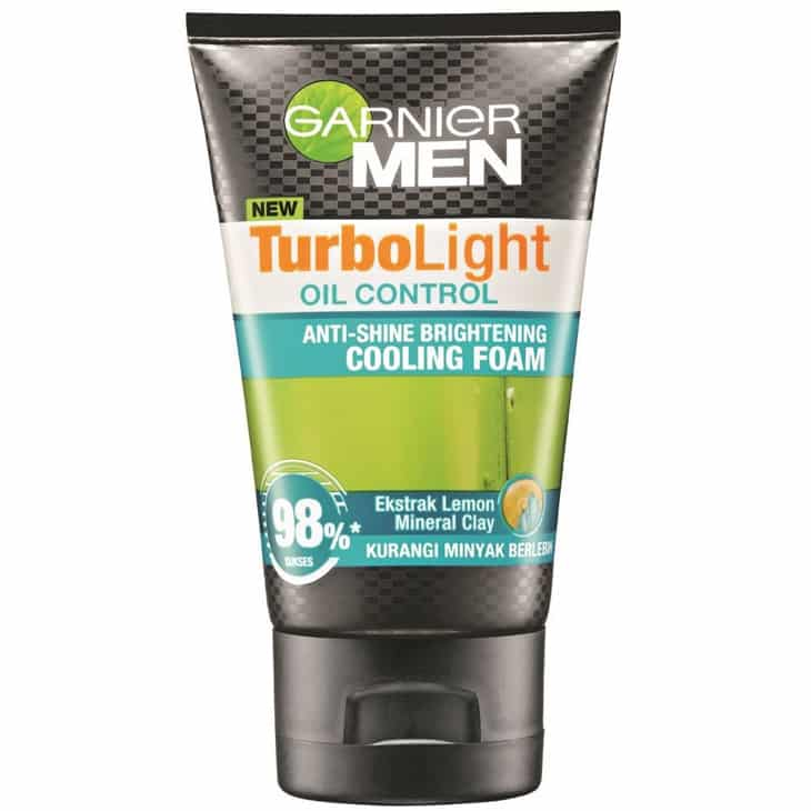 Garnier Men Turbo Light Oil Control Brightening Cooling Foam