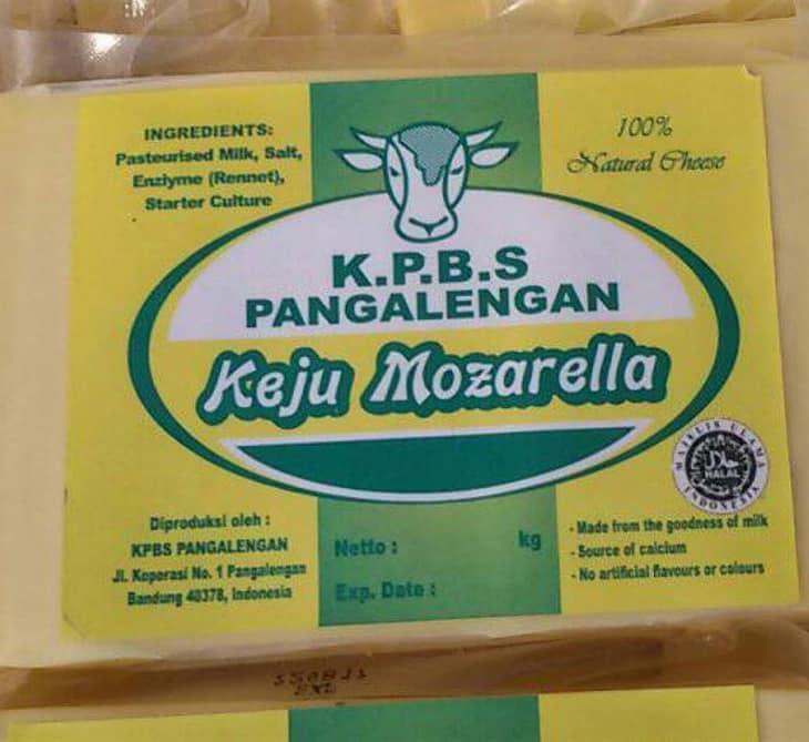 Keju Mozarella KPBS Pangalengan