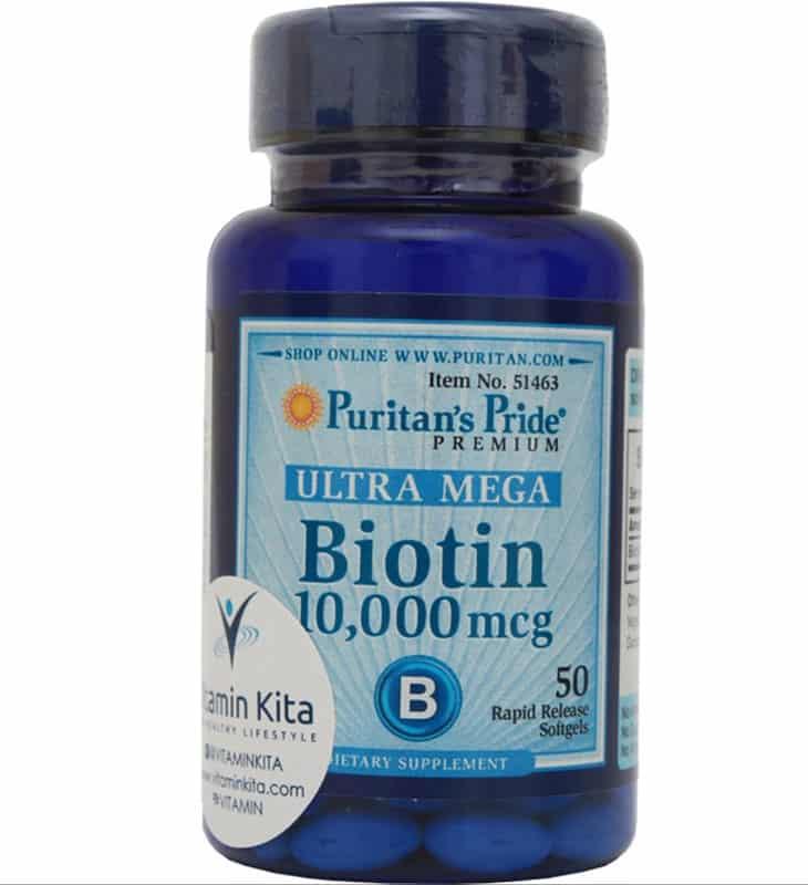Puritan's Pride Ultra Mega Biotin 10.000 mcg