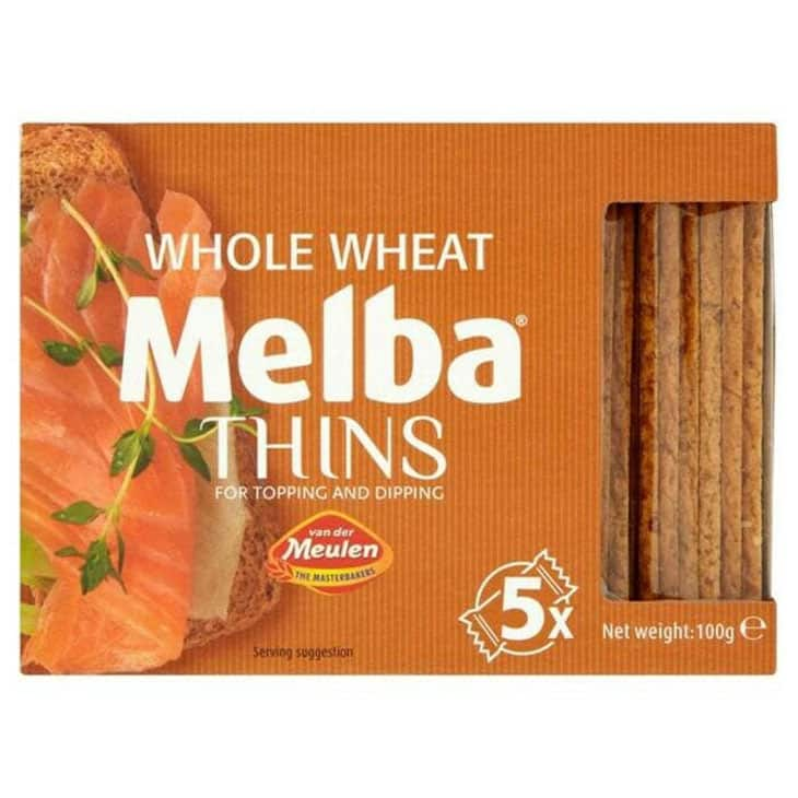 Roti Gandum Van Der Meulen Whole Wheat Melba Thin Toast Baked