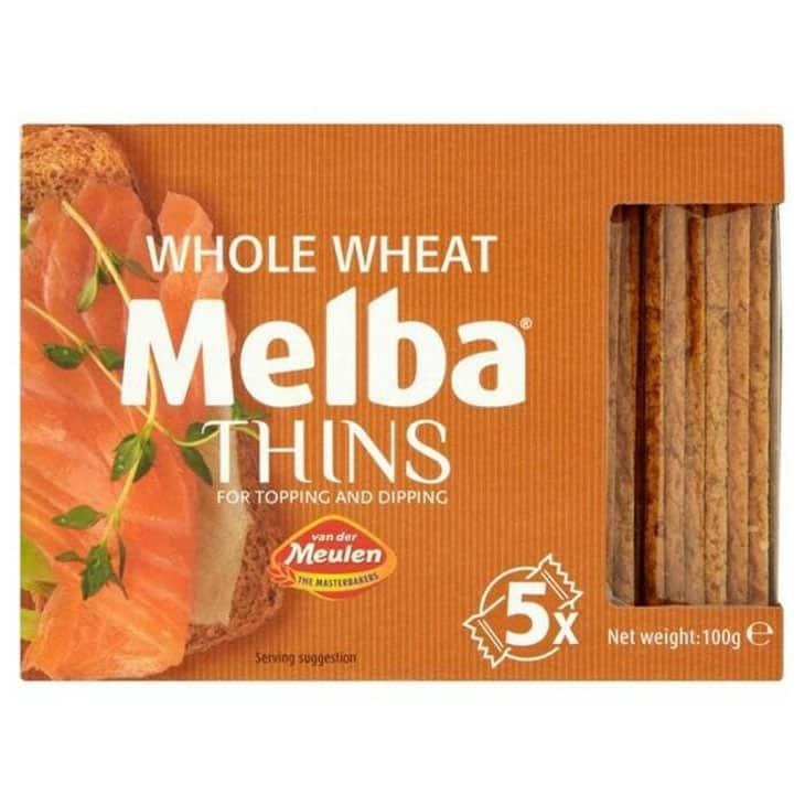 Roti Gandum Van Der Meulen Whole Wheat Melba Thin Toast Baked
