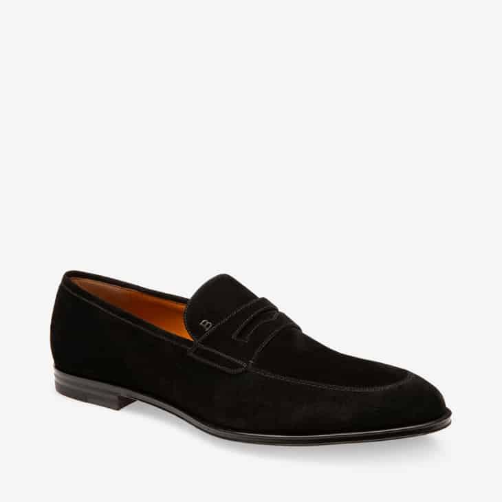 Sepatu-Pria-Bally-Loafers-Black-Suede