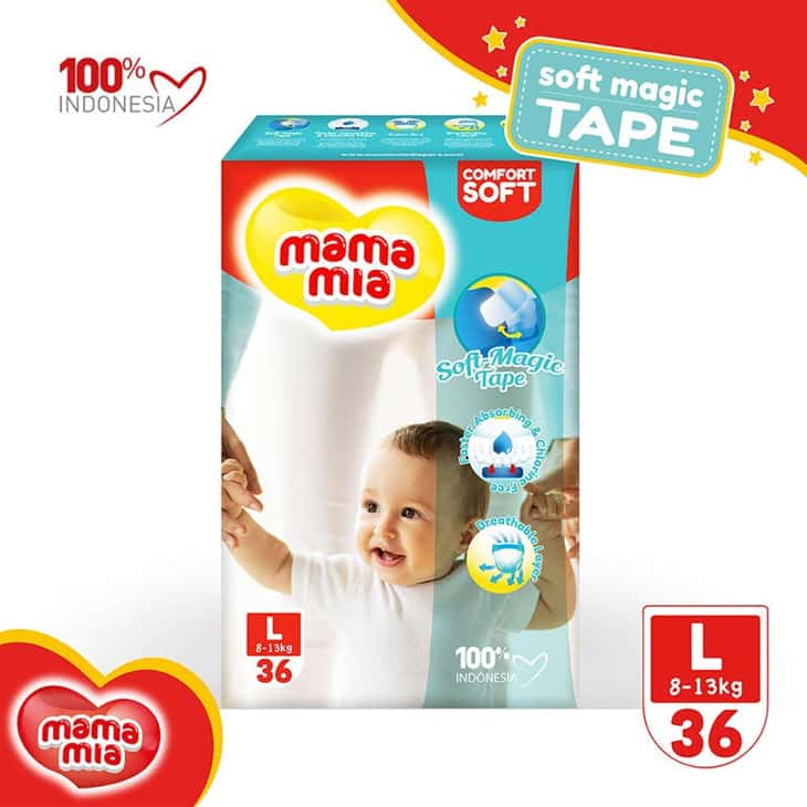 Popok-Bayi-Mama-Mia-Baby-Diapers-Soft-Magic