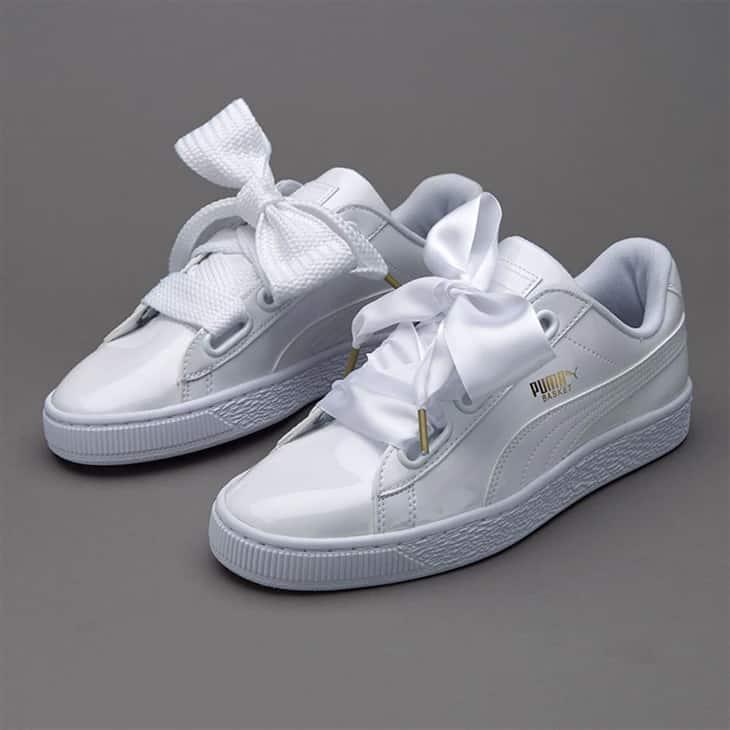 Sepatu-Wanita-Puma-Basket-Heart-Patent-White