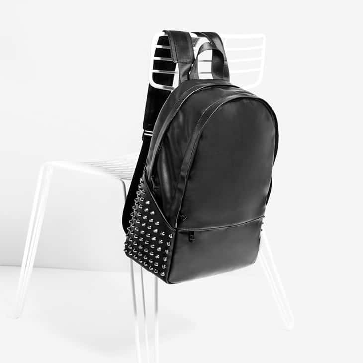 ZARA-Black-Studded-Backpack